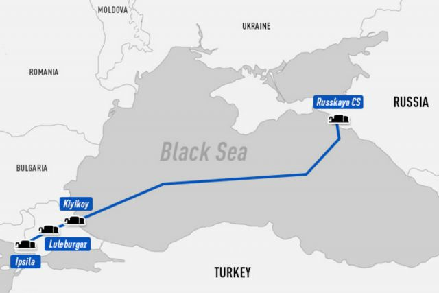turkish stream route gazprom