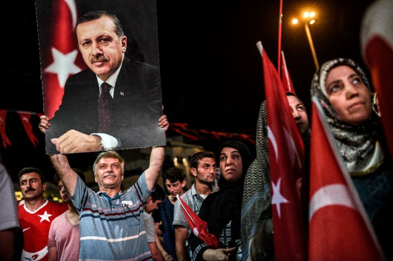 Erdogan support after coup