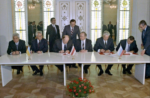 1991 Signing the Agreement to eliminate the USSR