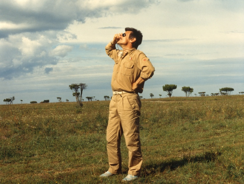 andrei tarkovsky on the set while filming the sacrifice 1986