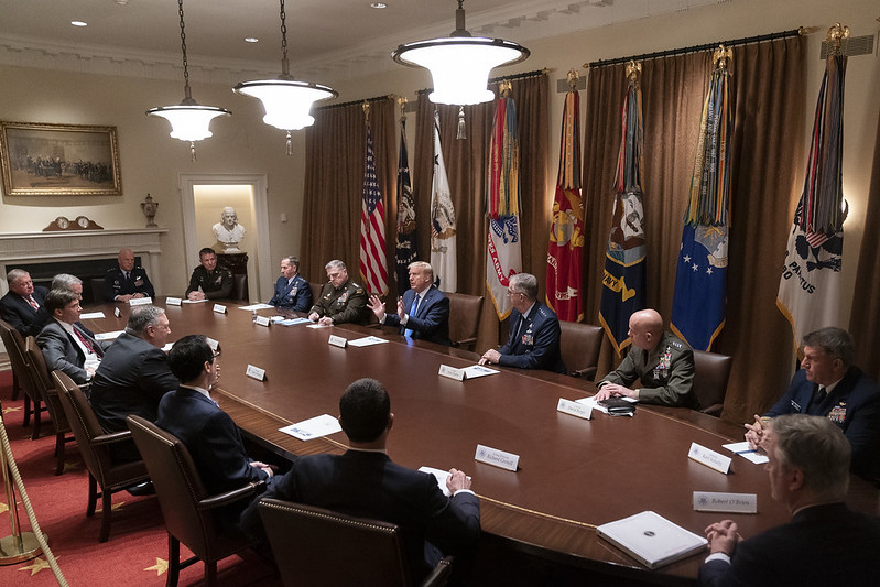 trump meets with senior military leaders 9 may 2020