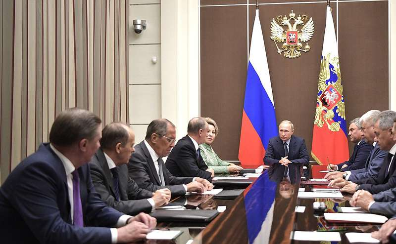 putin with his security council