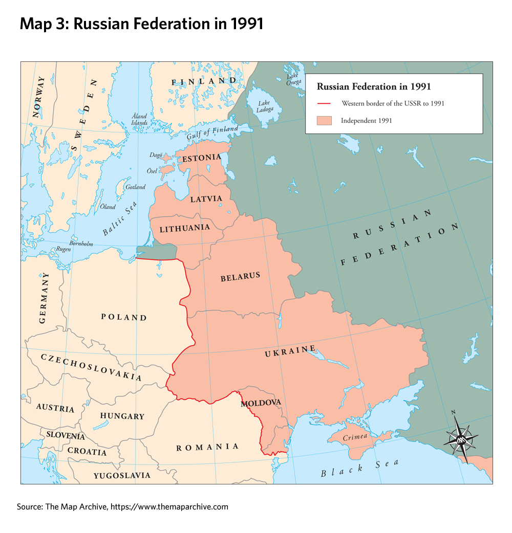 russia in 1991 source the map archive