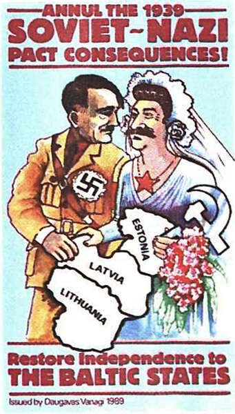 poster denouncing the molotovribbentrop pact