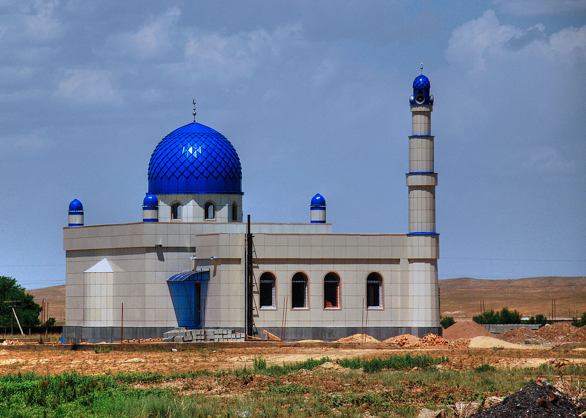 Mosque under construction in Kyrgyzstan wikimedia