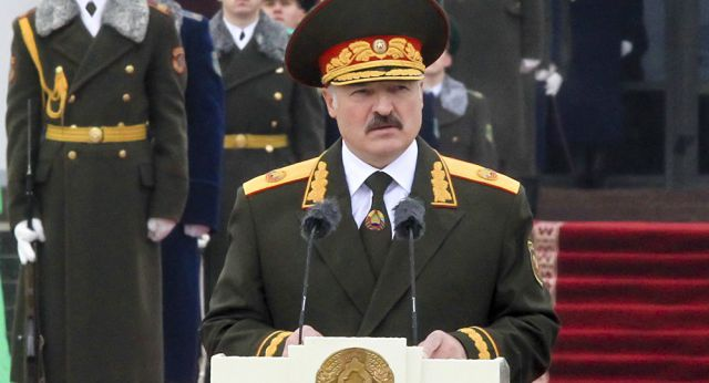 Lukashenko in uniform