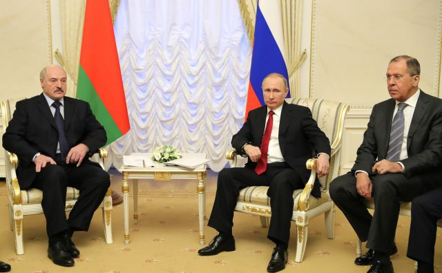 Putin and Lukashenko in StP 3 april 2017