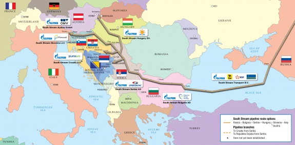 south stream map en