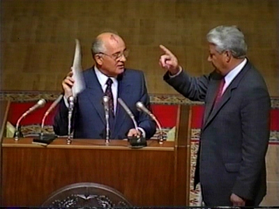 gorbachev with yeltsin aug 1991